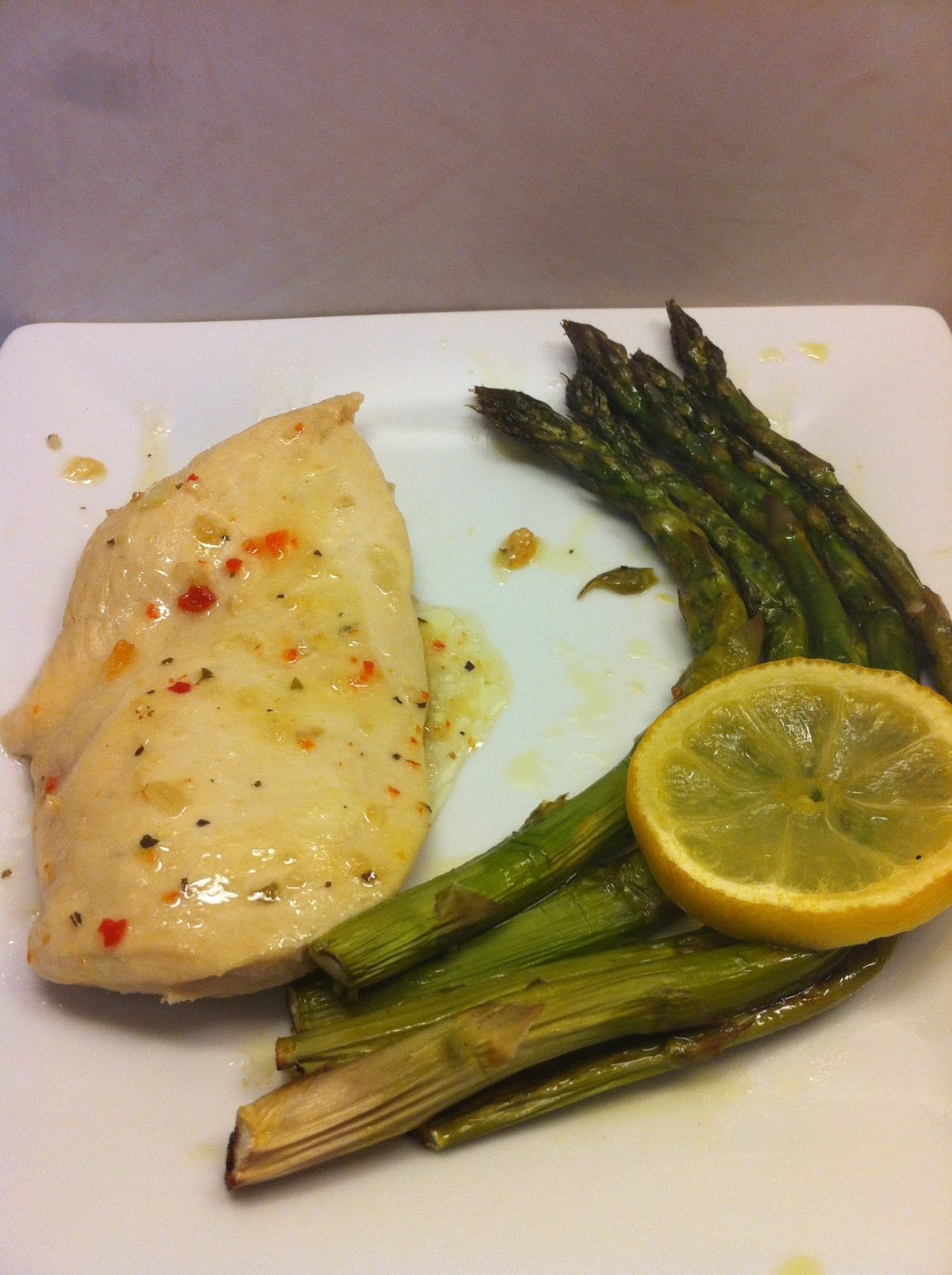 for dinner eat chicken and asparagus or broccoli.  instead of using salt use ms.s dash seasonings its a lot healthier