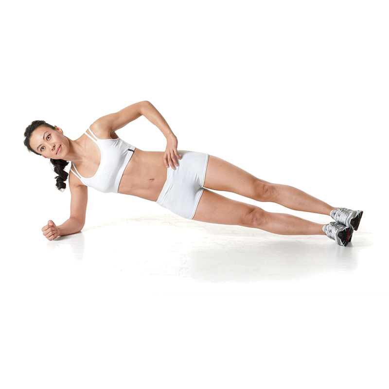 Side plank 30 seconds  Both sides