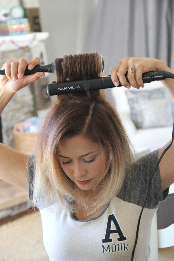 11. Use a thermal brush at your roots to get rid of any cowlicks.