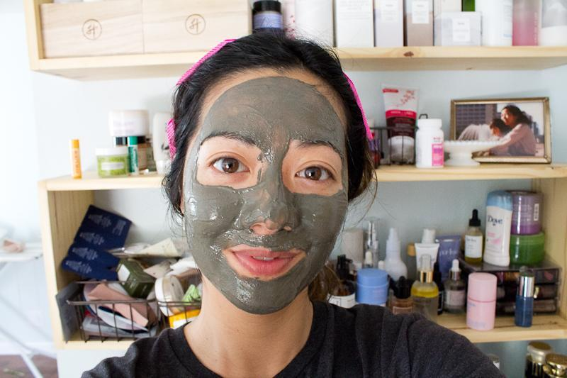 Skincare routine order clay mask