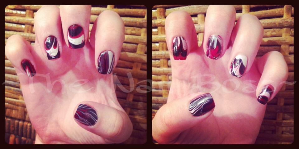 Black, white and red marble, marbling is a blast and so easy to do!