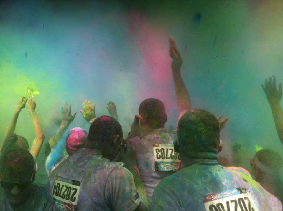 """After the """"race"""" there is a huge color party!!"""