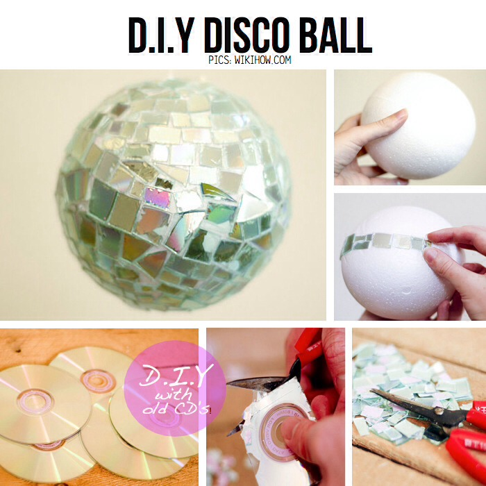 What needed: -Syrofoam ball -Old CDs