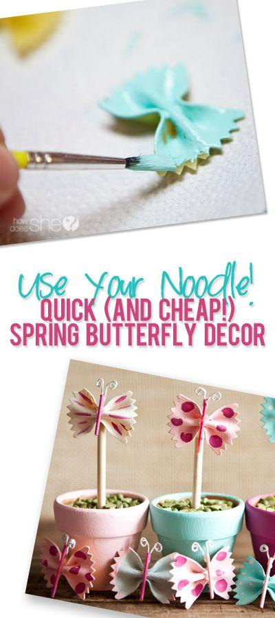 Use Your Noodle, acrylic paint, some wire and your glue gun!