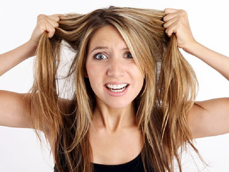 If your hair is naturally oily, try sleeping with it pulled back loosely. This prevents oils From setting on top of your forehead line which can give you breakouts.
