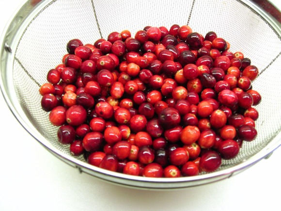 2. Wash and drain the cranberries and put them in a pot. (A 3 quart pot is the perfect size)