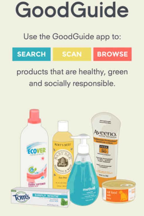 11. Good Guide tells you the health, environmental, and social impacts of products when you scan their barcode.