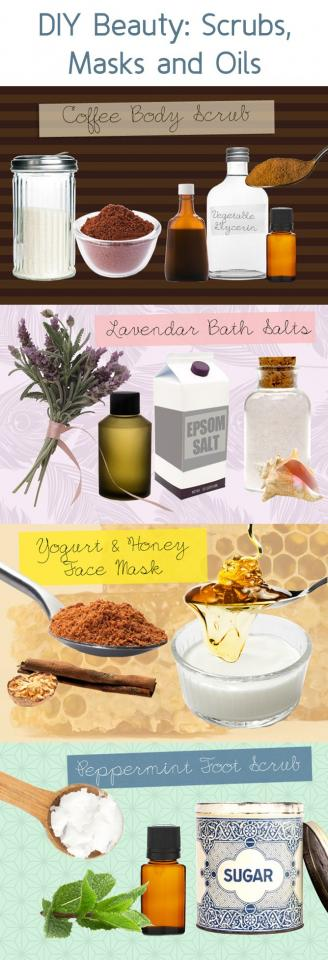 Every lady loves her scrubs, masks, and oils. Why shop around for them when you can make them yourself. Here is a full guide to DIY Beauty Scrubs, Masks, and Oils.