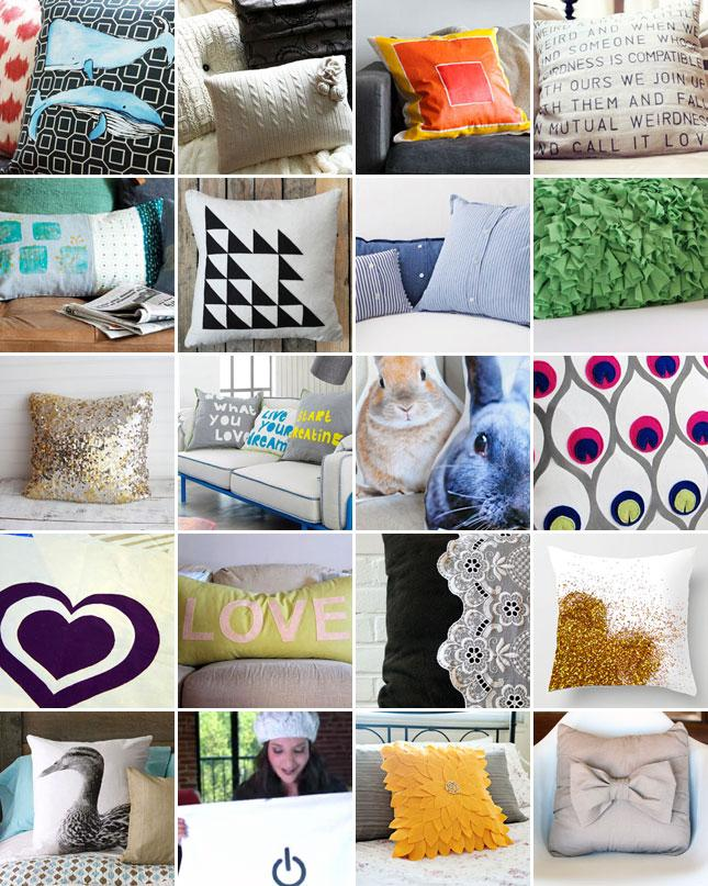 Pillows... Made with looooove! Diy pillows are everywhere on Youtube.