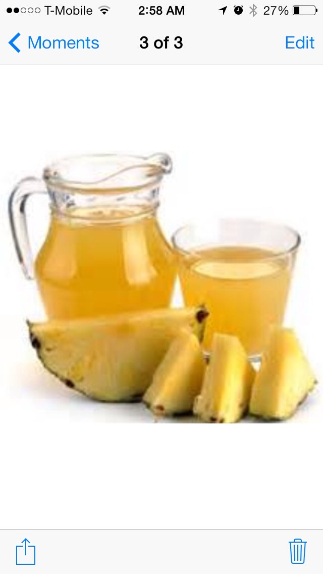 The next time you get the cold or flu try drinking pineapple juice to scare away that annoying cough! It's also great for preventing colds!