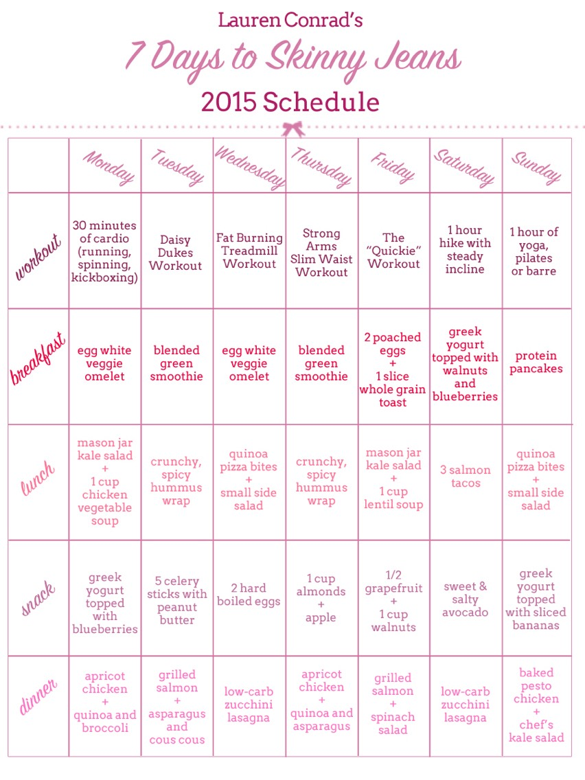 This workout plan is by Lauren Conrad, it's not mine. It just worked well for me
