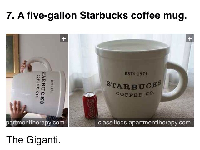Available at https://classifieds.apartmenttherapy.com/posts/18974-2001-starbucks-abbey-collectors-mug-5-gallon-cup?rf=141