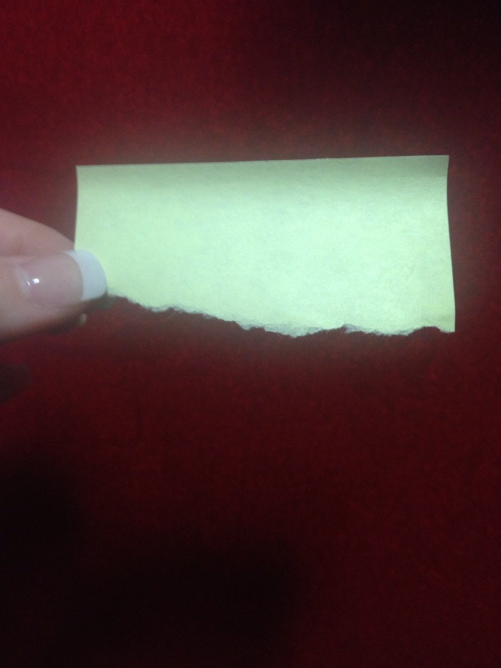 First you take a post-it and tear it like this