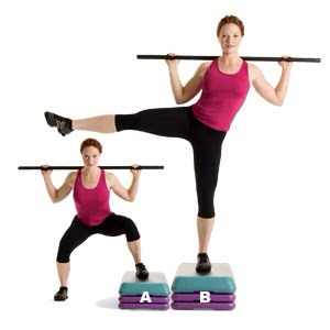 MOVE 4 Sumo Squat and Leg Raise  SETS: 3REPS: 12 to 15REST: 30 seconds Works core, hips, glutes, hamstrings, and quads