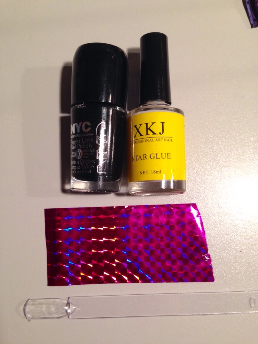 These are all the things you need (you also need a clear top coat which is not shown in the picture)