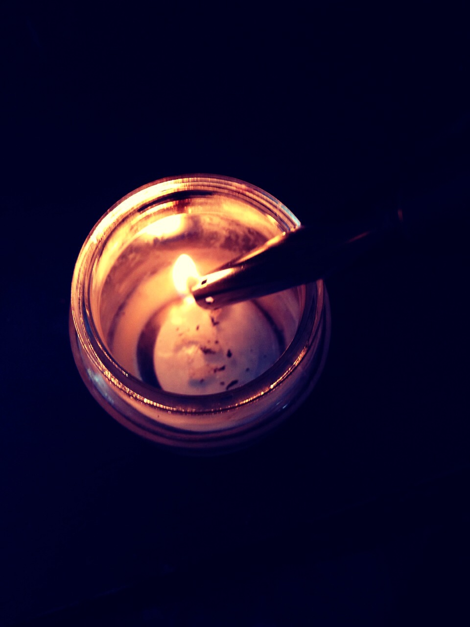 Clean out the jar with the lighter