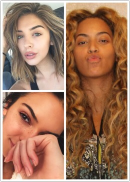 Even celebrities look beautiful without makeup