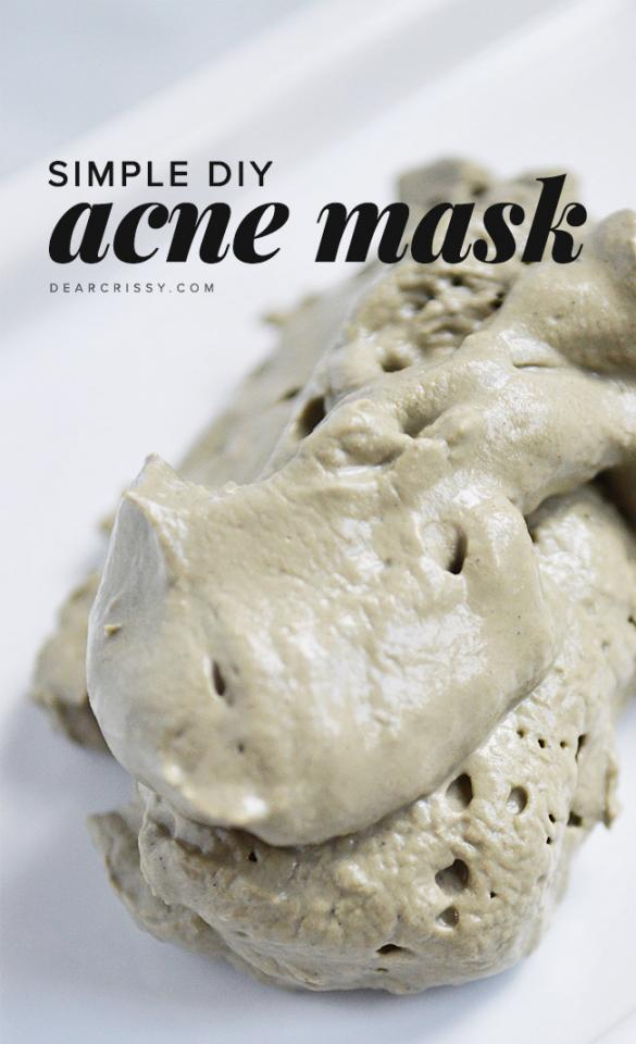 1. Acne mask — This simple homemade acne mask recipe includes only TWO ingredients. Your pores will be unclogged in no time!