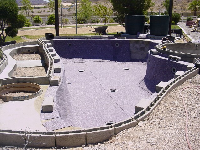 Musely Concrete block swimming pool construction
