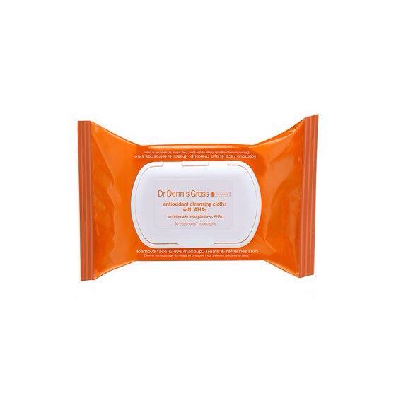 Dr. Dennis Gross Antioxidant Cleansing Cloths with AHA, $18; For information: sephora.com