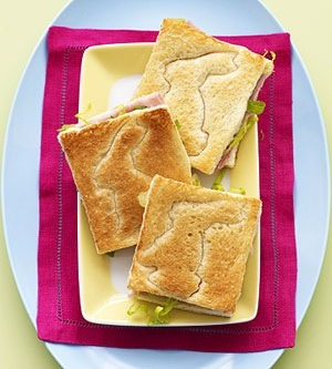 Press the blunt side into bread, then toast. Or adorable imprint on a sandwich!
