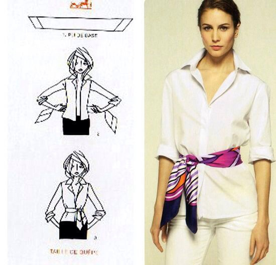 Change things up and wear a thin scarf as a belt.