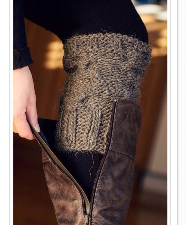 Make old worn-out sweaters into leg warmers!