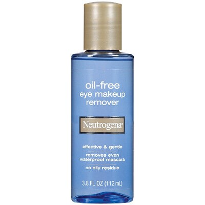 Neutrogena Oil Free Makeup Remover. I like this product because it easily takes off dark and thick winged eyeliner while still being gentle on your eyes and not leaving behind any sticky residue.