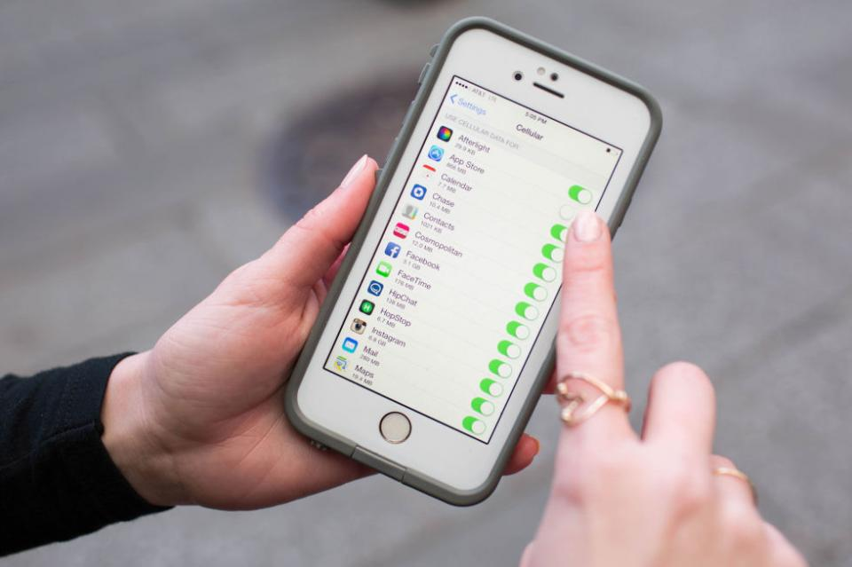 8. Turn off cellular data usage for certain apps and features that you won't be needing to save battery.