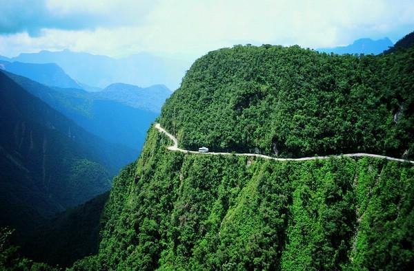 Yungas Road; from La Paz to Coroico, Bolivia