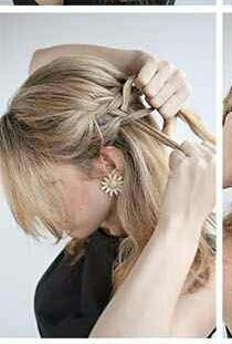 Step 7: Start 2nd side braid.