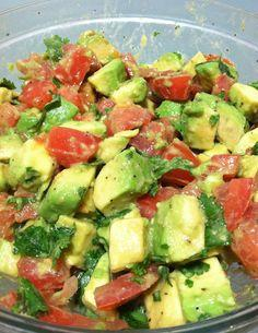 Add lemon juice, cilantro, salt, and pepper. Stir and taste (to see if you want more salt, pepper, or anything else).