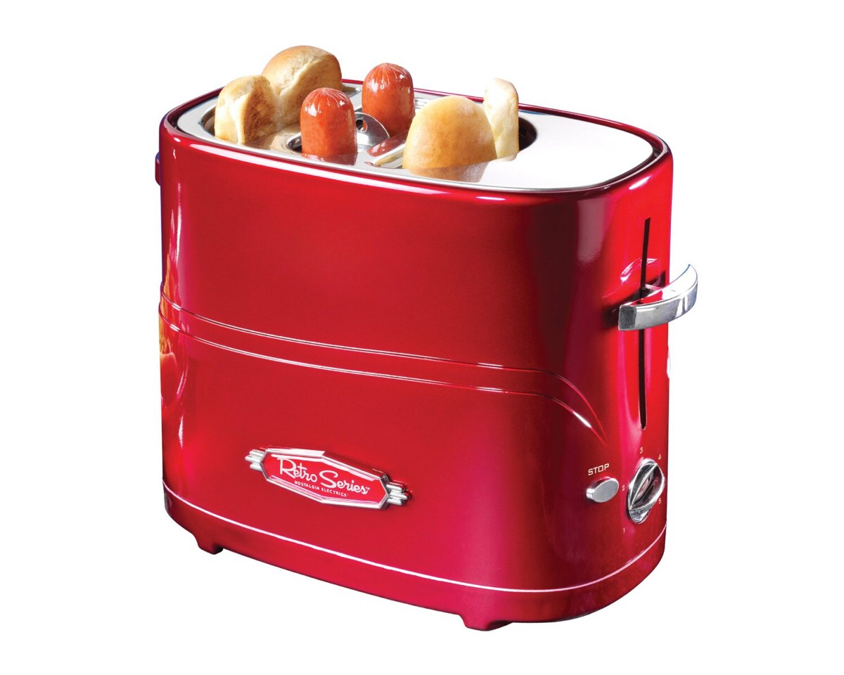Hot Dog Toaster Perfect for college students, or people who just love hot dogs!  https://www.amazon.com/gp/aw/d/B005Q8X6IO/ref=aw_wl_ov_dp_1_10?colid=1EDZZ51J5W08Y&coliid=I6HWMMH7FOZQ1