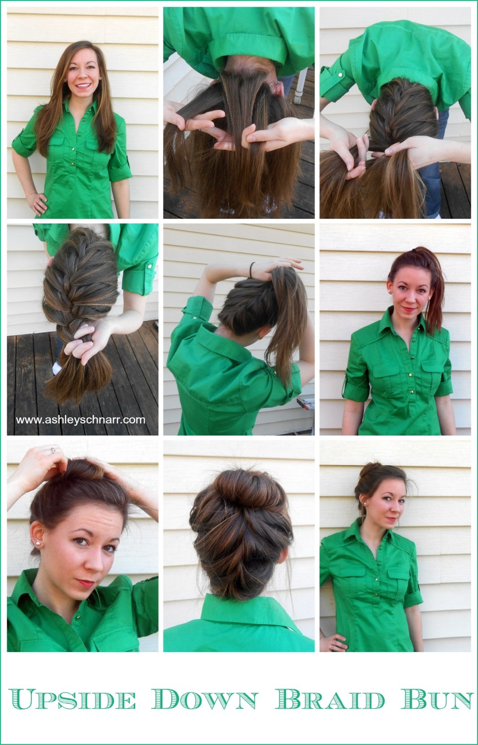 Upside-down braided bun