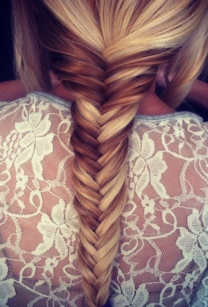 A fishtail braid is one of the prettiest hair styles people were