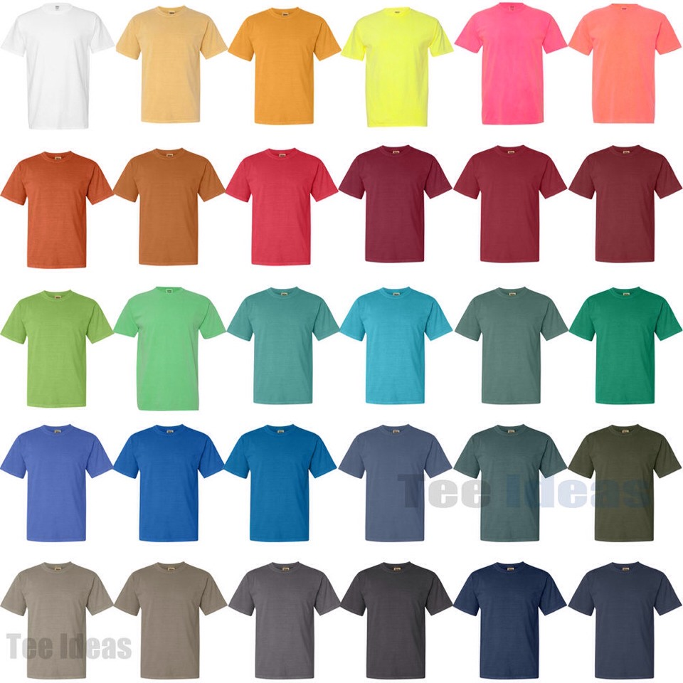 A colored tee shirt is comfy and casual. They're great for when you're running late to class and you need something, quick.
