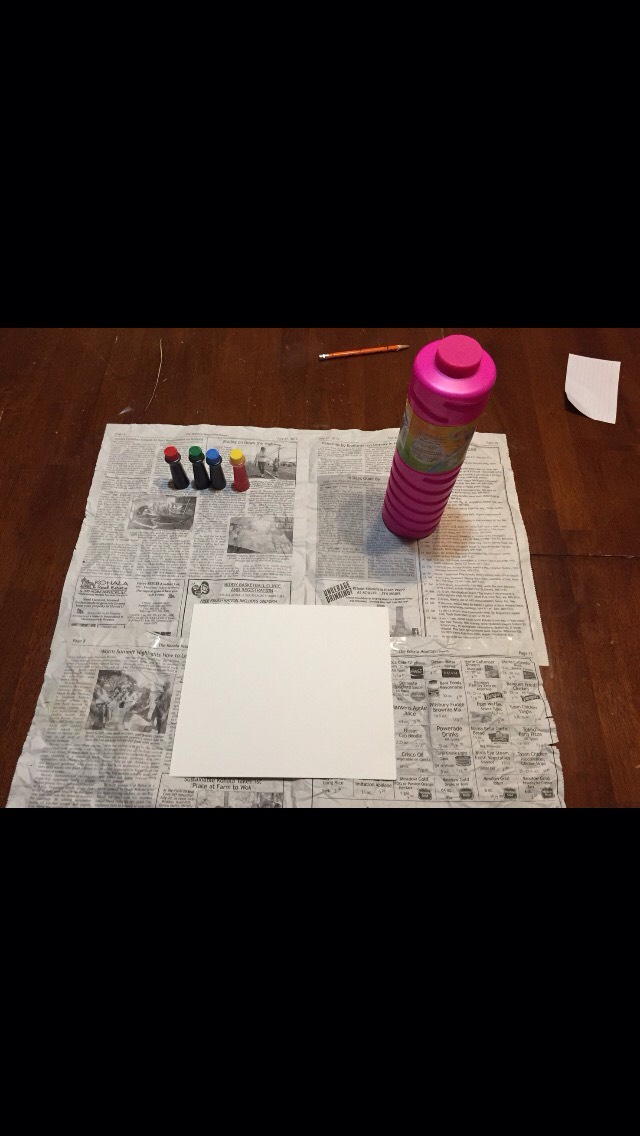 You will need  Paper ( watercolor ) Food coloring  Newspaper ( optional ) Bubble solution  Empty water bottles or plastic cups