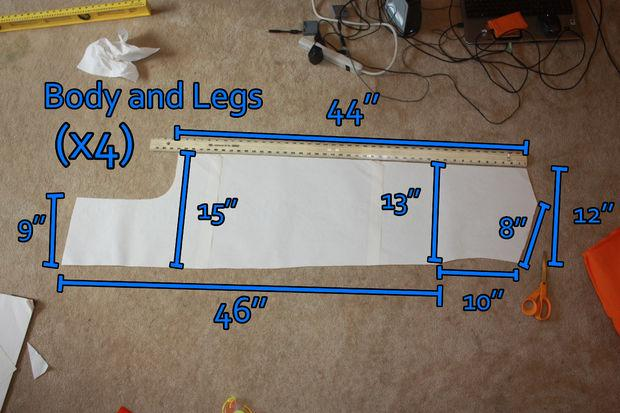 measurement will vary by size  the body will be the largest piece