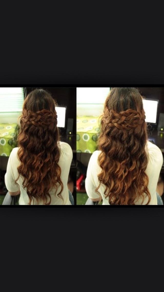 The boho hair. Braid two hair on both sides and then wrap it around your head. This was selena gomez inspired.