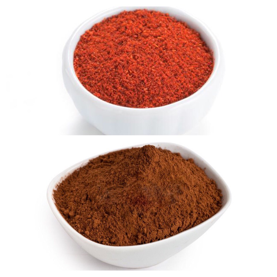 You'll take 4 tsp coconut oil, 1 tsp olive oil, 2 tsp aloe Vera gel. Whip it up until it looks nice and fluffy, then you'll add 1 tsp of cacao powder for dark hair or red chili powder for red hair.