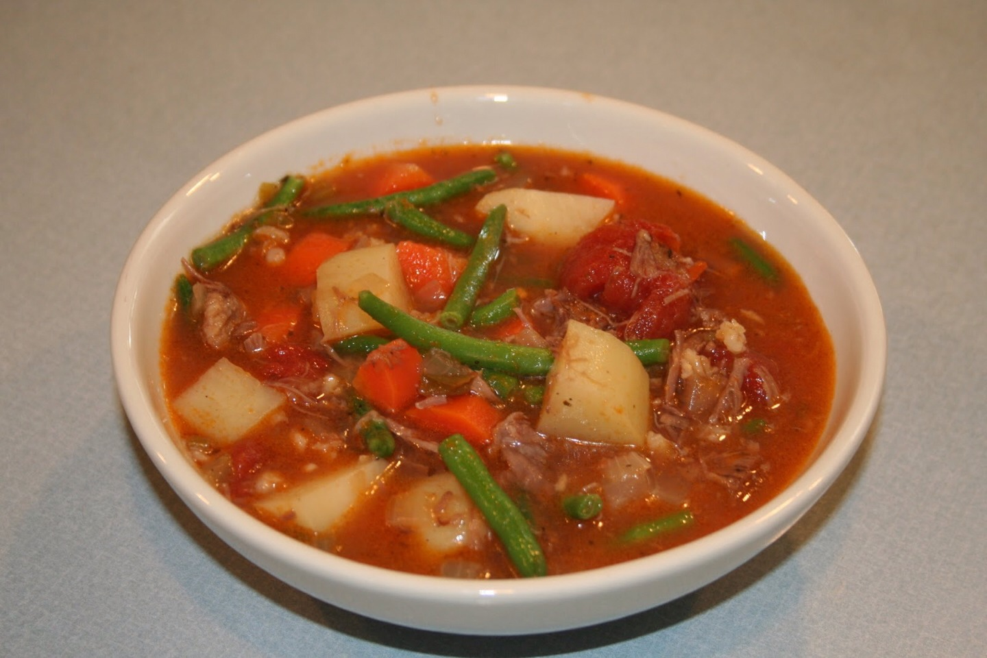 This soup is very hearty and healthy.