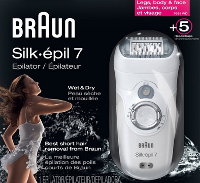 1. Braun Silk Epil 7681:High Price High Quality -  is the high-end model in the world of epilators. It's a best epilator for women with a larger budget. The epilator is the complete package with everything that you need for hair removal including trimming and shaving head!