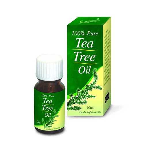 4 to 6 drops of tree tea oil. ( to lessen inflammation and dry up acne.