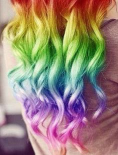 Amazing rainbow hair