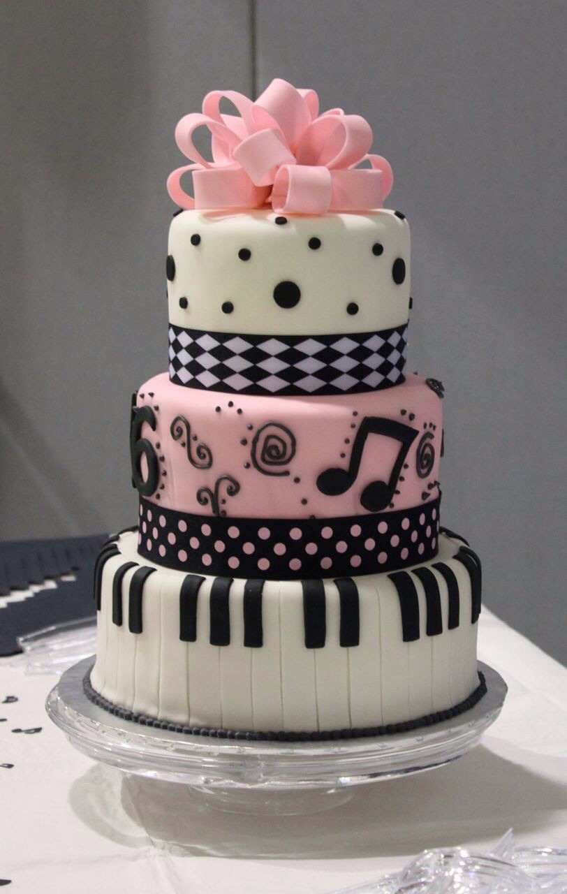 Here are some cool cakes. Here is a music one.