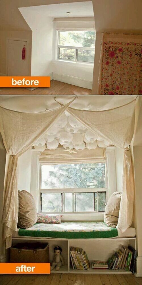 Create a window seat I want one of these so bad