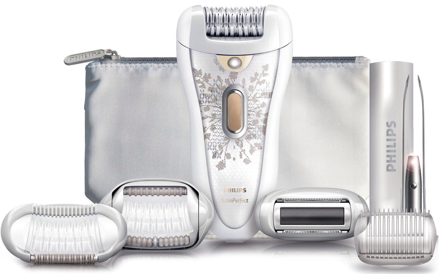 5. HP6576 Satin Perfect Deluxe Epilator is one of the prettiest hair removal gadgest. The sleek design and the ergonomic shape. It's feminine and powerful, just like all women are.