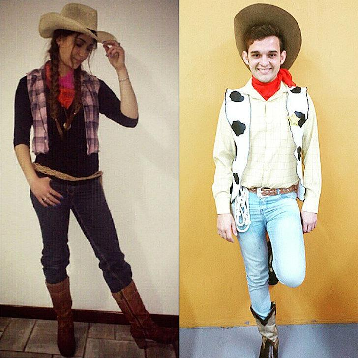 Costumes: Cowgirl, Woody from Toy Story Cowboy Hat Cowboy Hat ($1)  http://www.dollartree.com/toys/costumes-dress-up/Foam-Cowboy-Hats/629c634c634p337594/index.pro