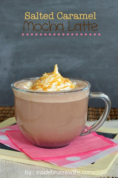 Caramel and sea salt add a punch of flavor to a home brewed coffee.