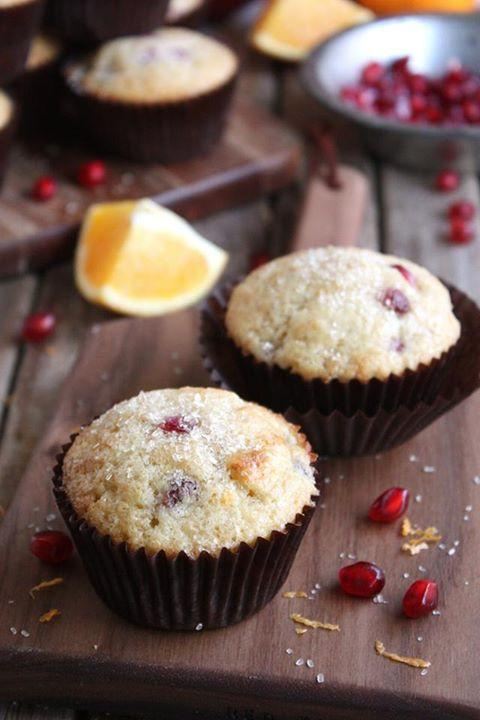 Pomegranate Orange Muffins